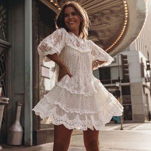 NWT Spell Dawn Lace Mini Dress